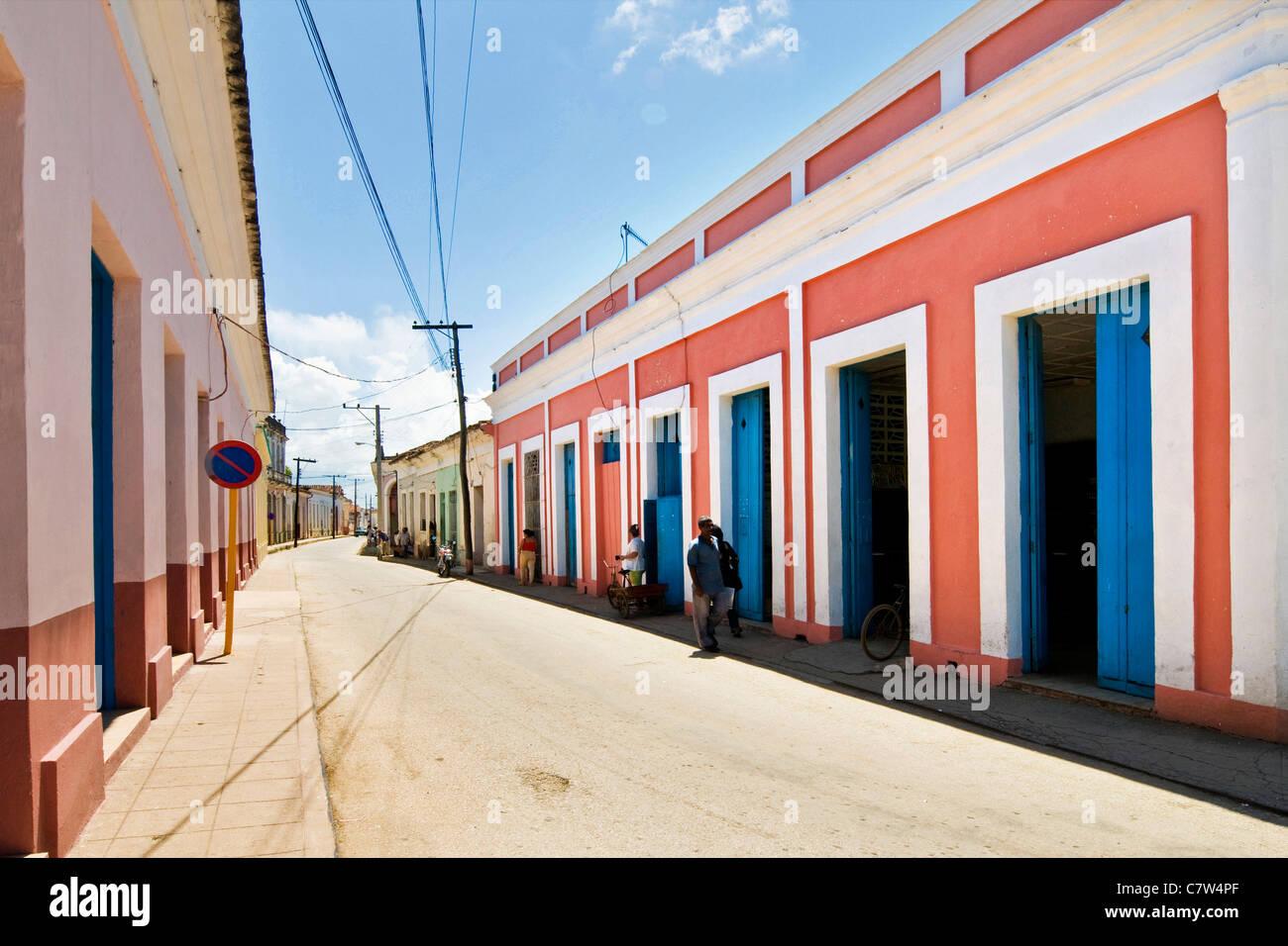 Cuba, Remedios, town street Stock Photo