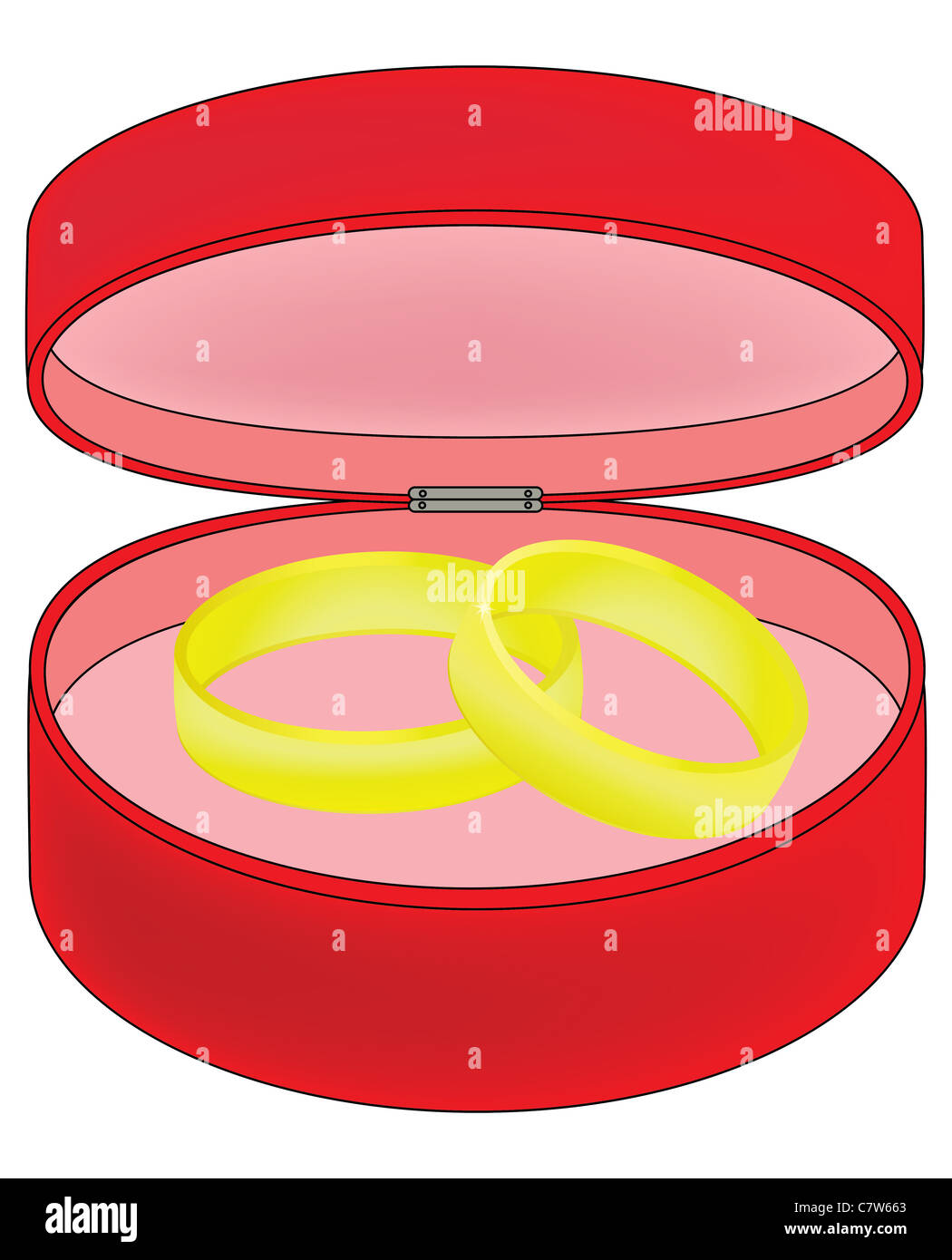 Drawing Box Golden Ring Wedding Stock Photos & Drawing Box Golden ...