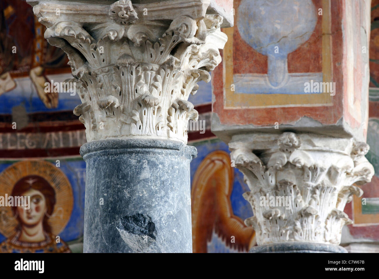Italy, Campania, Capua, interiors of Sant'Angelo in Formis church Stock Photo