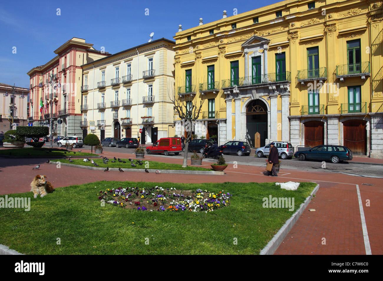 Italy, Campania, Avellino, Piazza Libertà - Stock Image