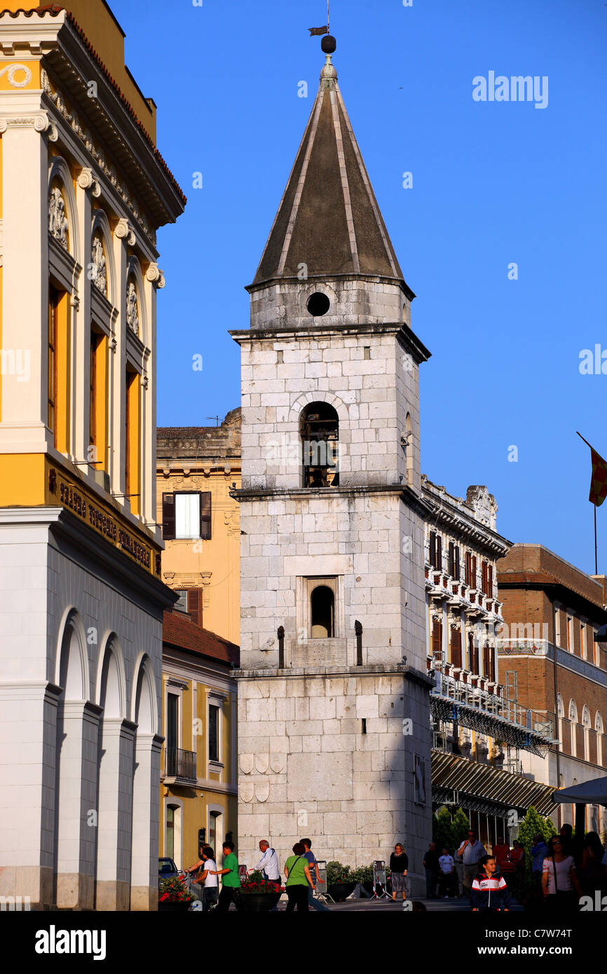 Italy, Campania, Benevento, Santa Sofia church bell tower Stock Photo