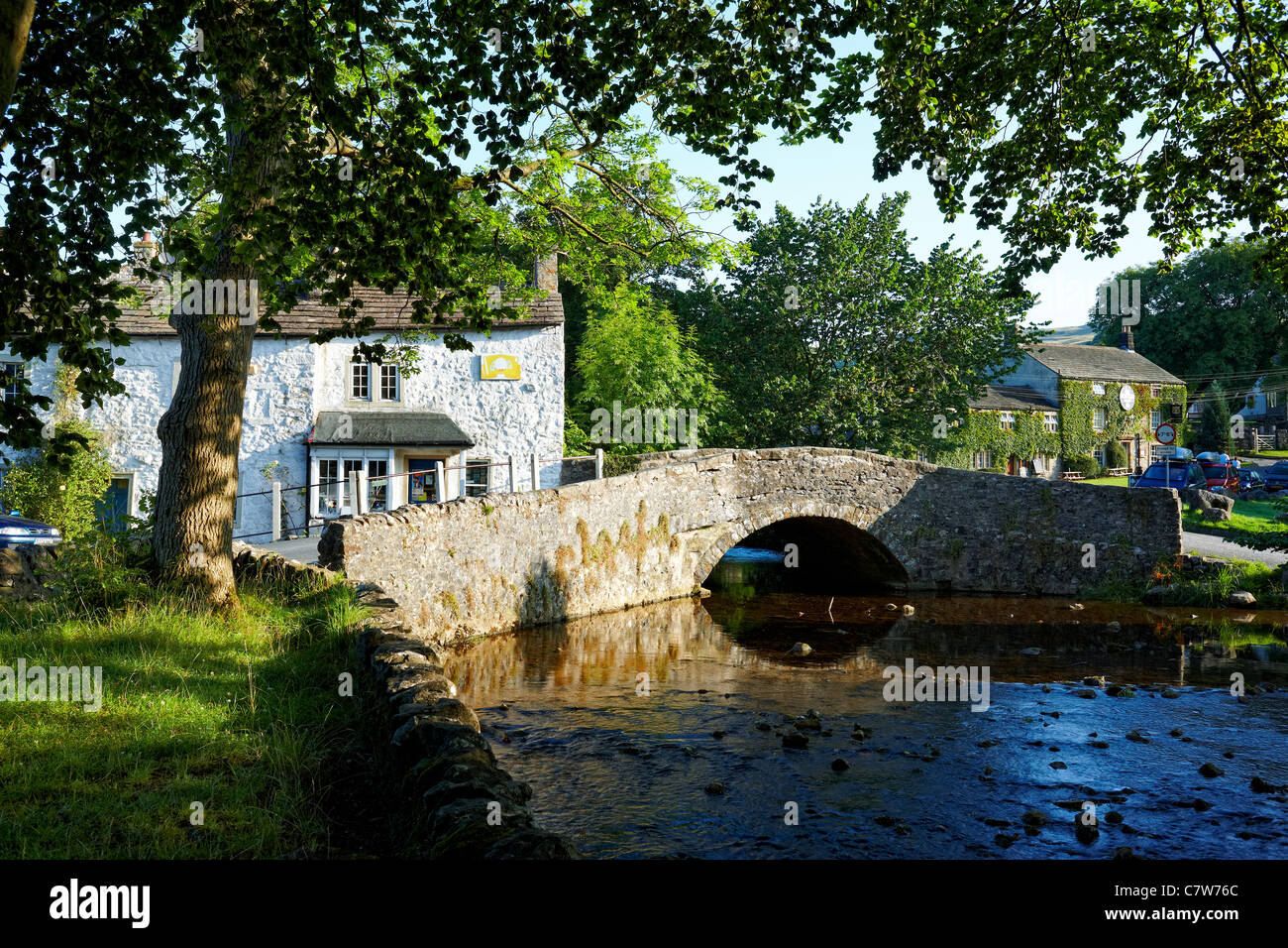 Malham, a village in the Yorkshire Dales National Park - Stock Image