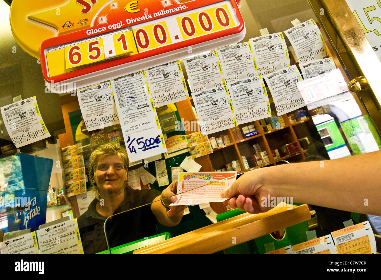 Superenalotto lottery - Stock Image