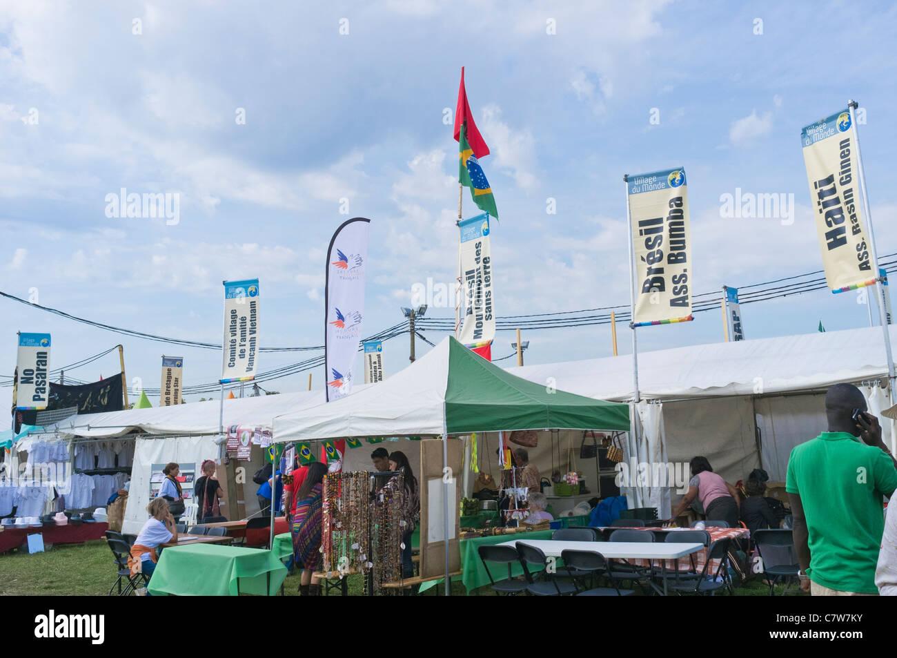 Village du Mond at the Fête de l'Humanité 2011 - Stock Image