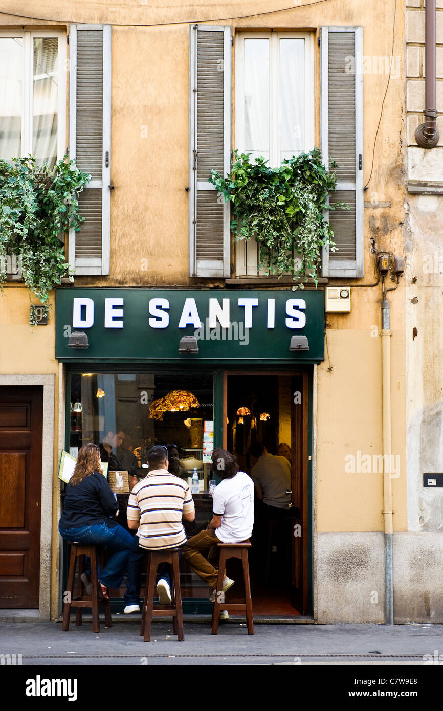 Italy, Lombardy, Milan, Corso Magenta, De Santis bar - Stock Image