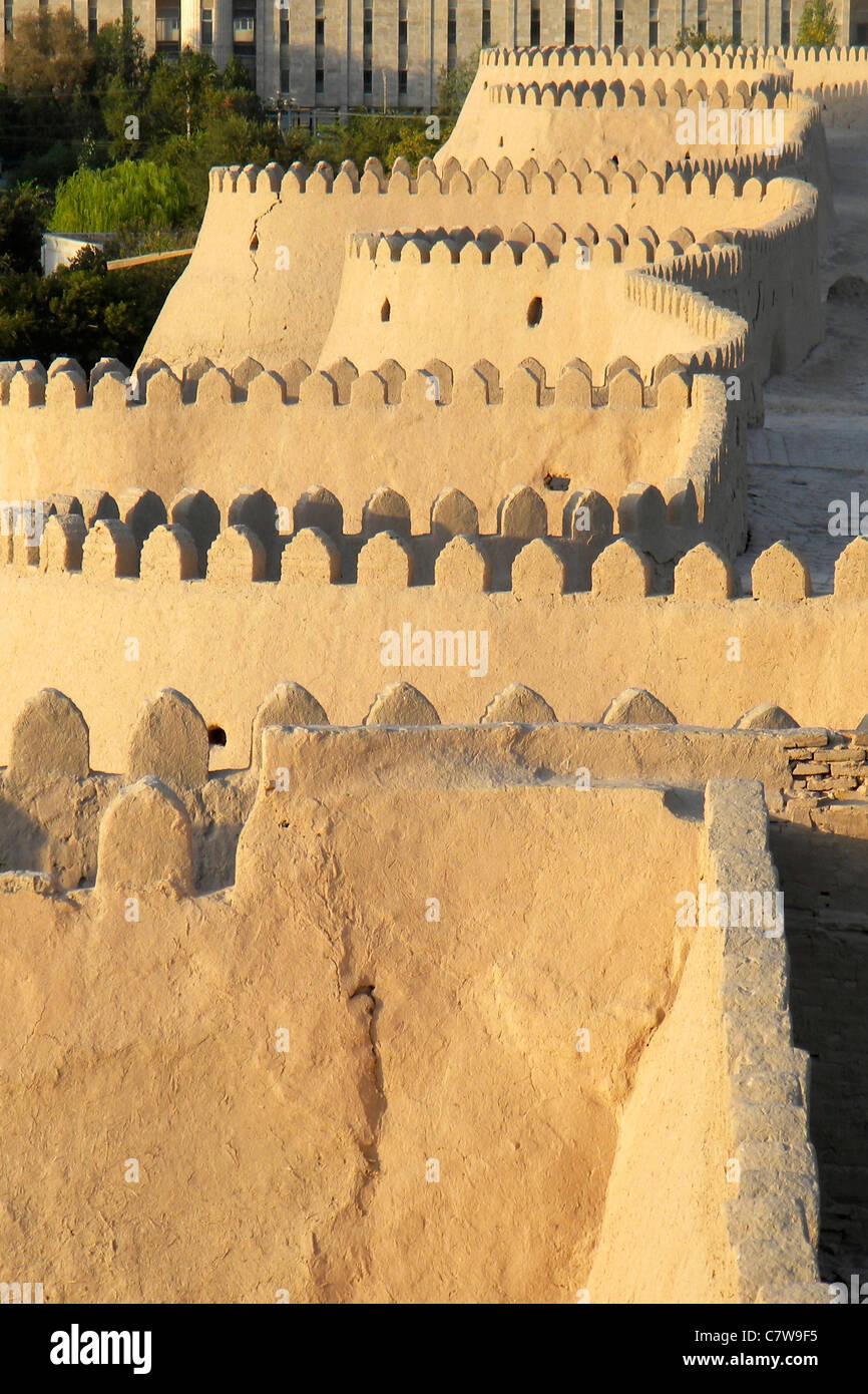 Uzbekistan, Khiva, Fortified walls - Stock Image