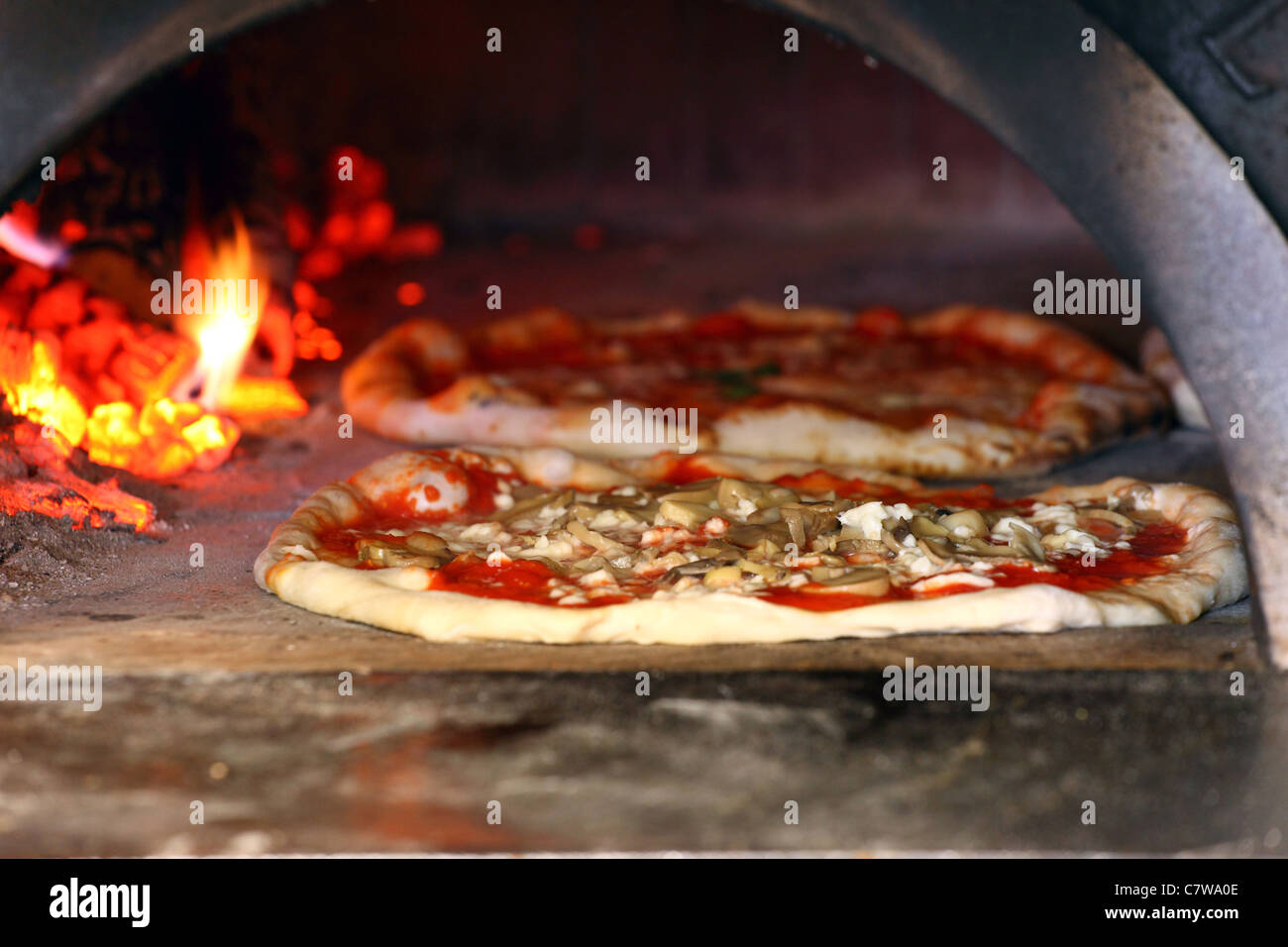 Italy, Campania, Naples, pizza Stock Photo
