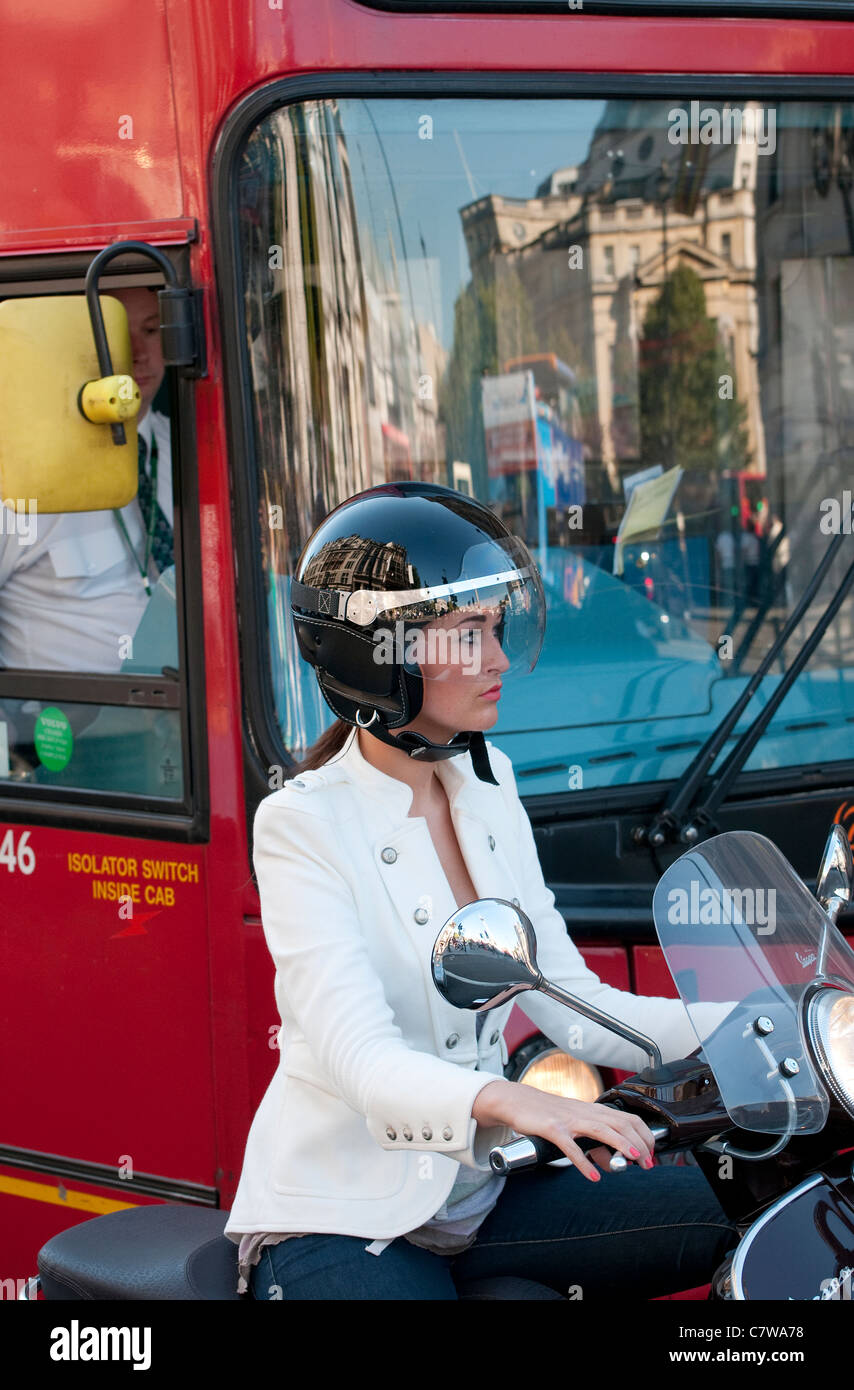 traffic congestion in london, england - Stock Image