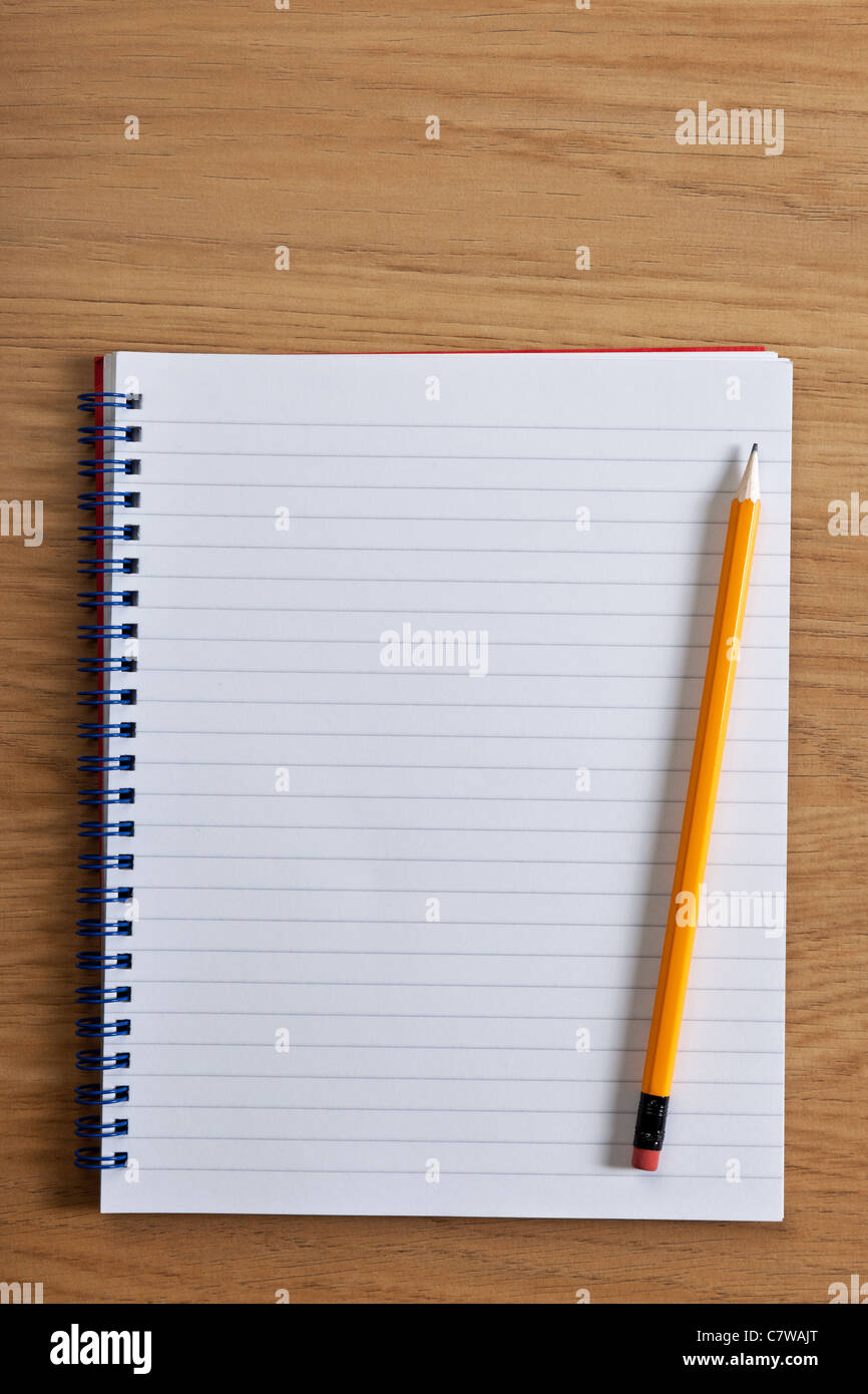 Photo Of Blank Ruled Notepad And Pencil On Desk Add Your Own Copy Yellow Legal Pads Paper Pen