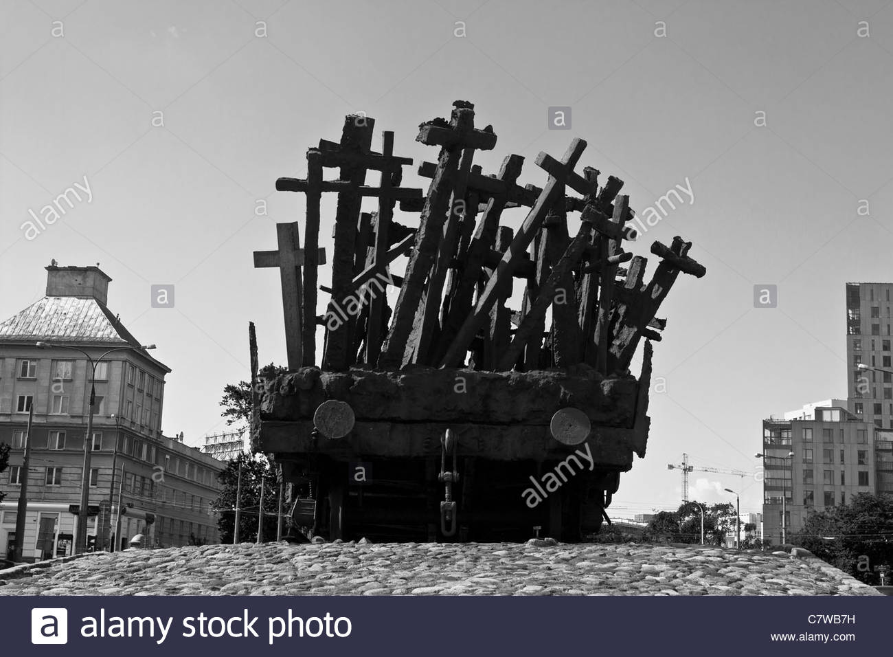 Monument for the fallen and murdered people in the east Stock Photo