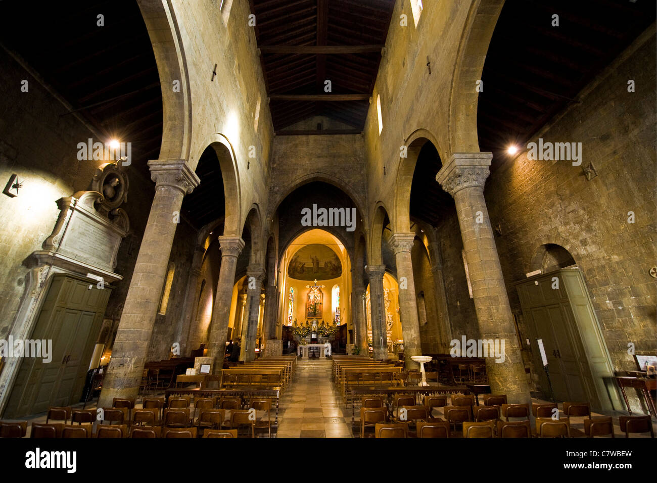 Italy, Liguria, Sanremo, San Siro Church interior Stock Photo