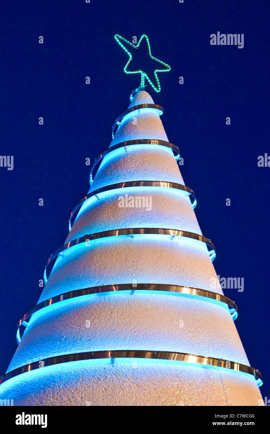 modern christmas tree stock image