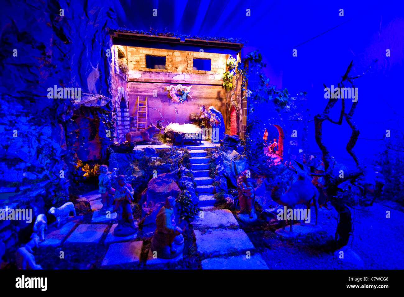 Christmas crib - Stock Image