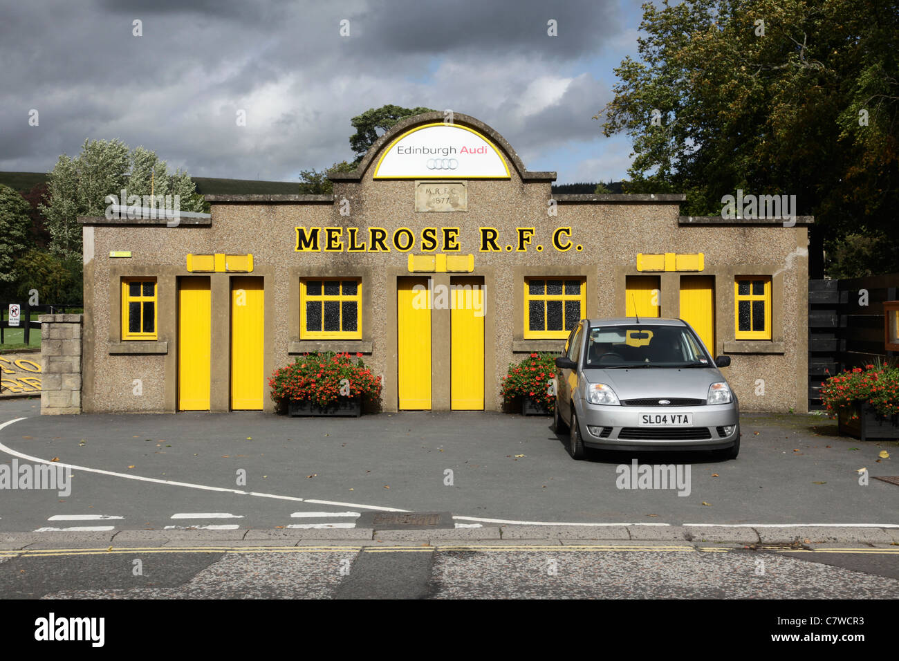 Melrose Rugby Football Club - Stock Image