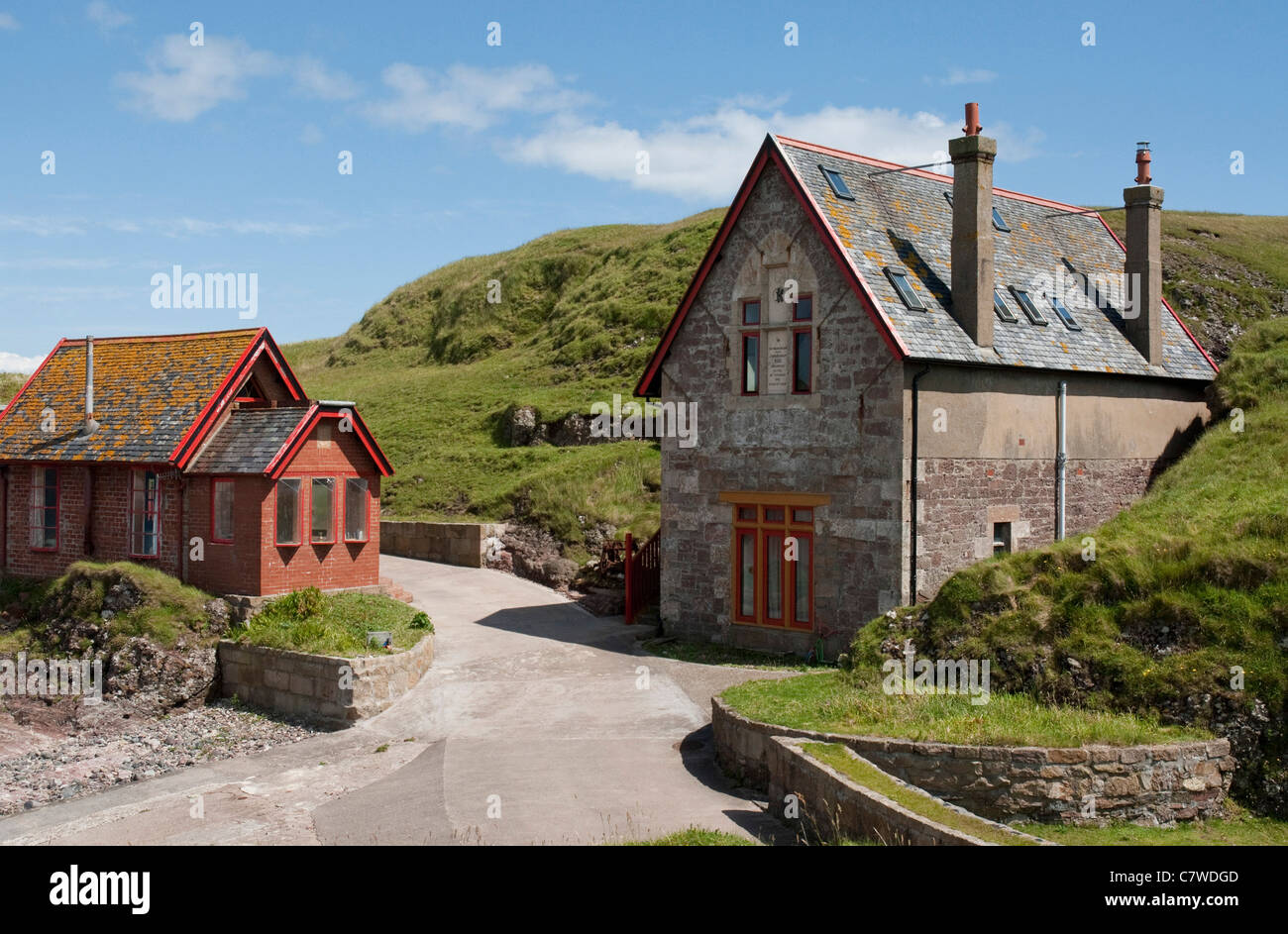 Converted Lifeboat Station at Dunaverty - Stock Image