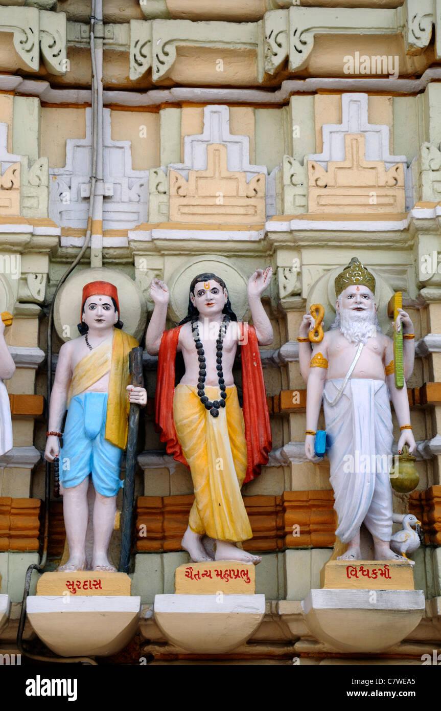 Shri Swaminarayan mandir Temple Ahmedabad Swaminarayan Sampraday Hindu sect Gujarat Sampraday headquarters NarNarayan - Stock Image