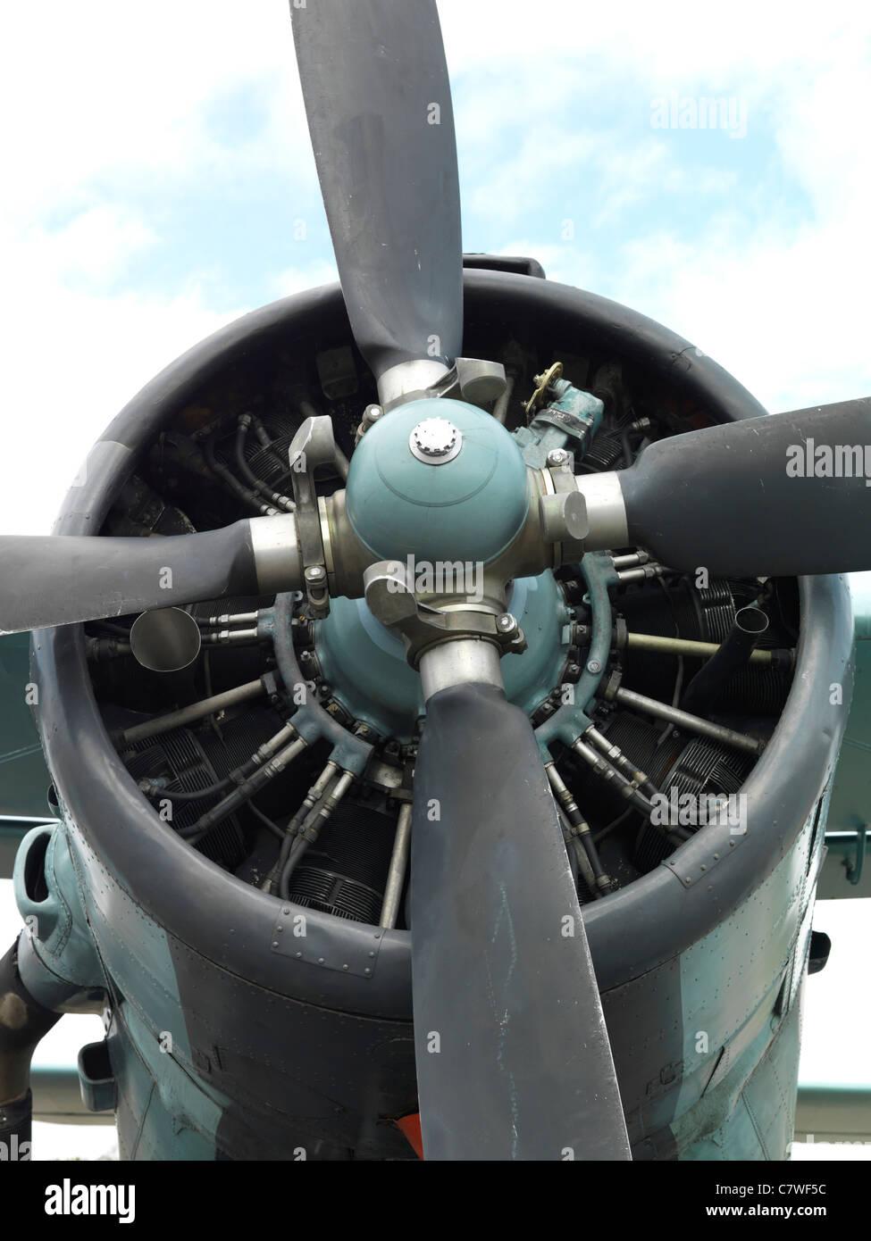 Antonov AN-2T Colt Biplane - Stock Image
