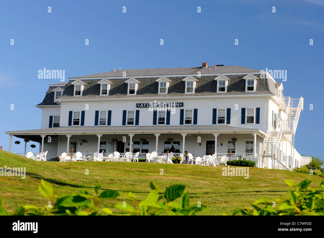The Atlantic Inn located on Block Island Rhode Island - Stock Image