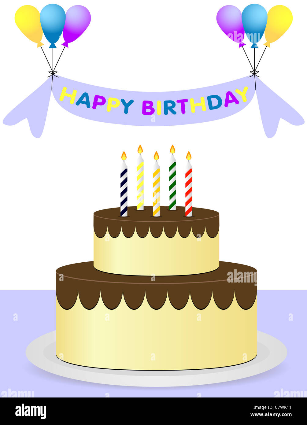 Strange Happy Birthday Background With Cake And Balloons Stock Photo Funny Birthday Cards Online Elaedamsfinfo