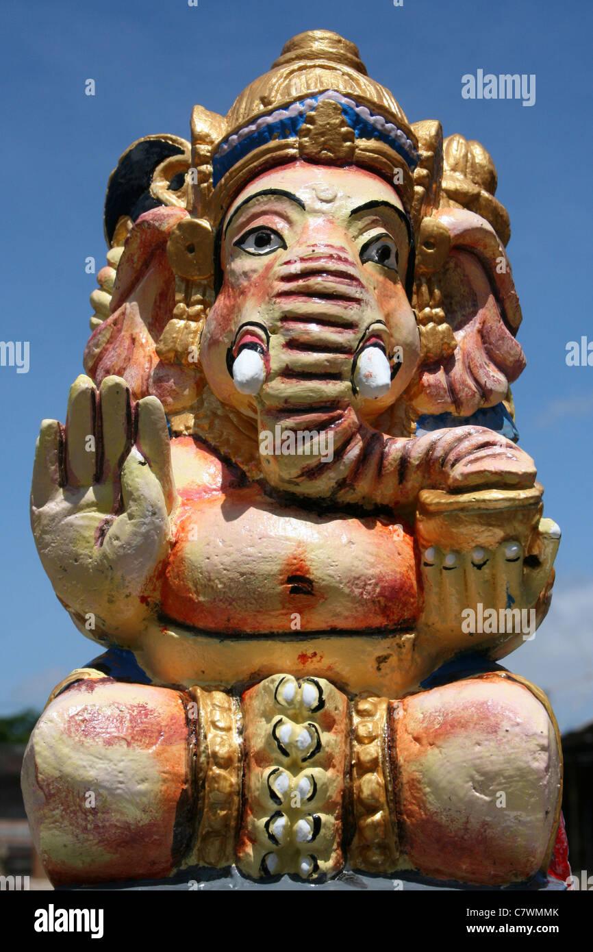 Ganesh Statue At Ulun Danu Batur Temple, Bali - Stock Image