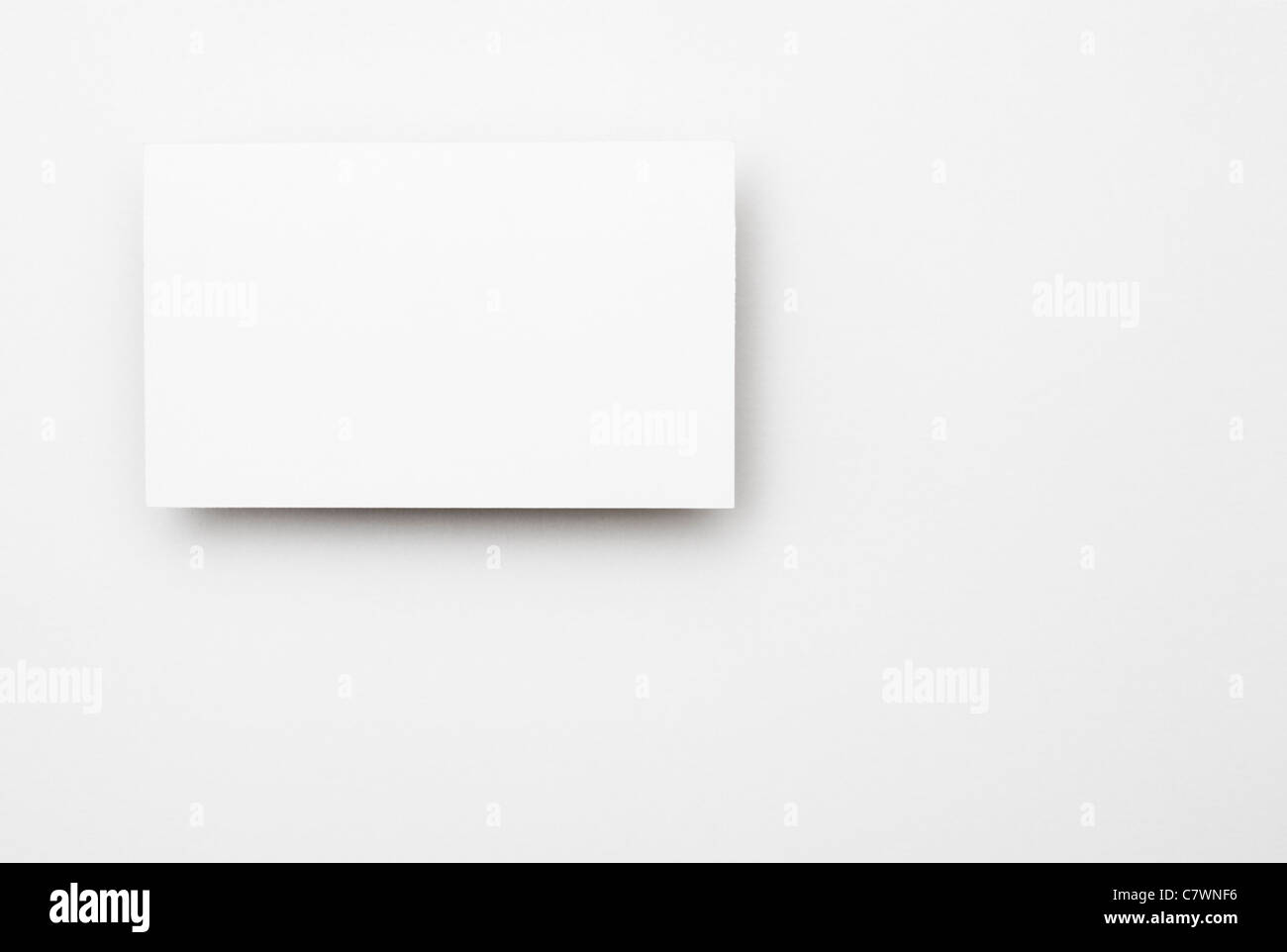 Blank business card. - Stock Image