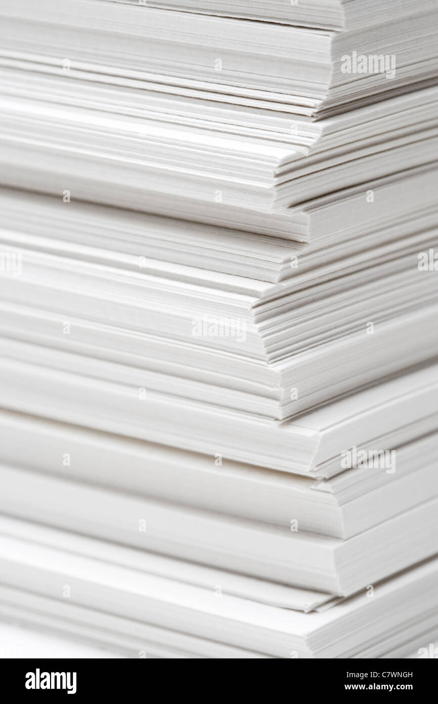 Stack of paper - Stock Image