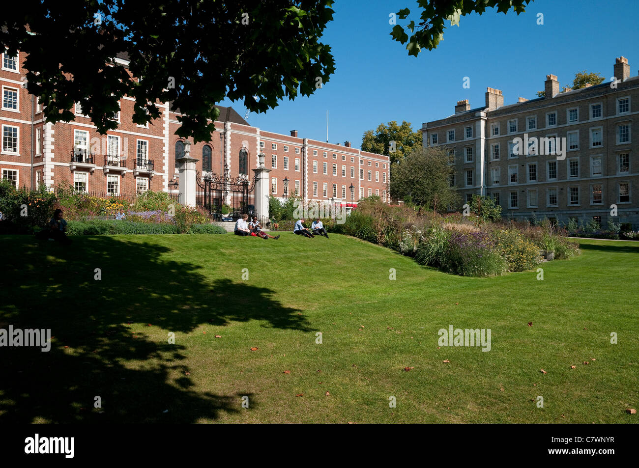 inner temple gardens, london, england - Stock Image