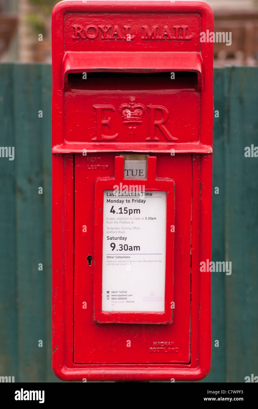 Small Red Village Royal Mail Postbox Post Box Letterbox Uk