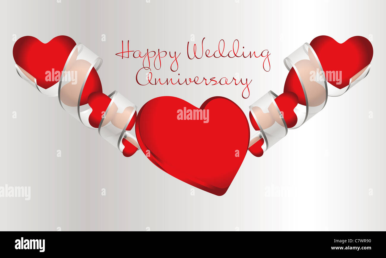 Silver wedding anniversary stock photos silver wedding