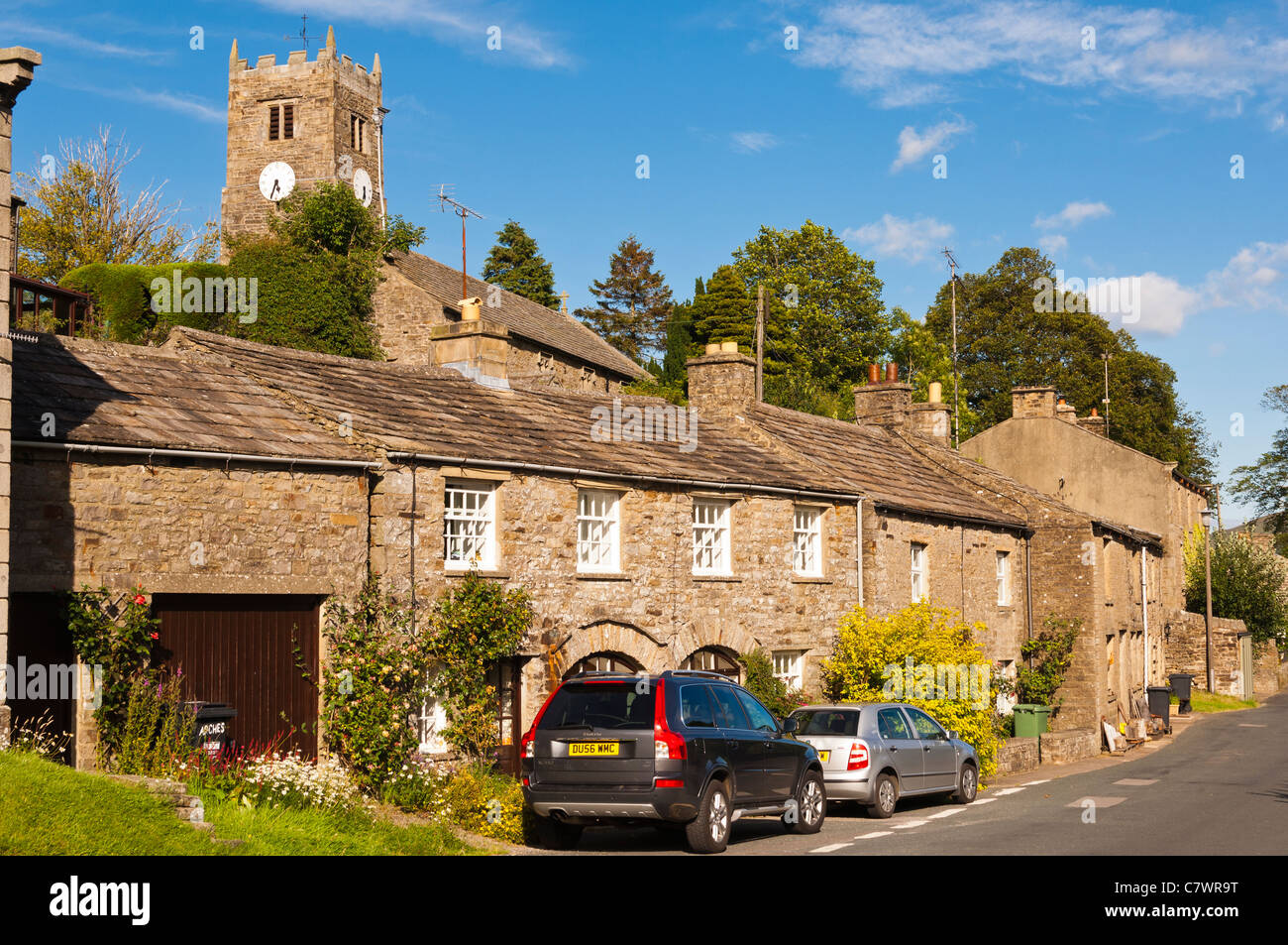 Muker in Swaledale in North Yorkshire , England , Britain , Uk - Stock Image