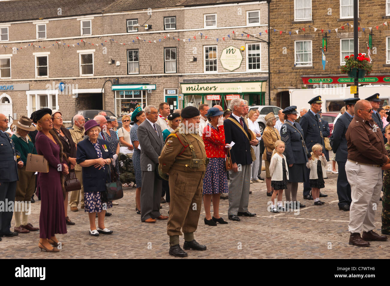 A Remembrance Service At The 1940s Weekend Leyburn In North Yorkshire England Britain