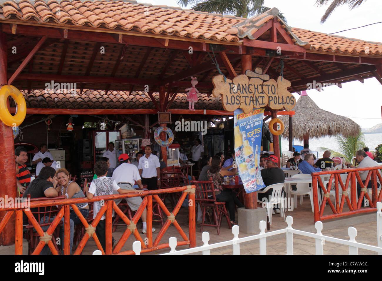 Managua Nicaragua El Malecon Puerto Salvador Allende Lake Xolotlan inland port waterfront recreational area Ranchito Stock Photo