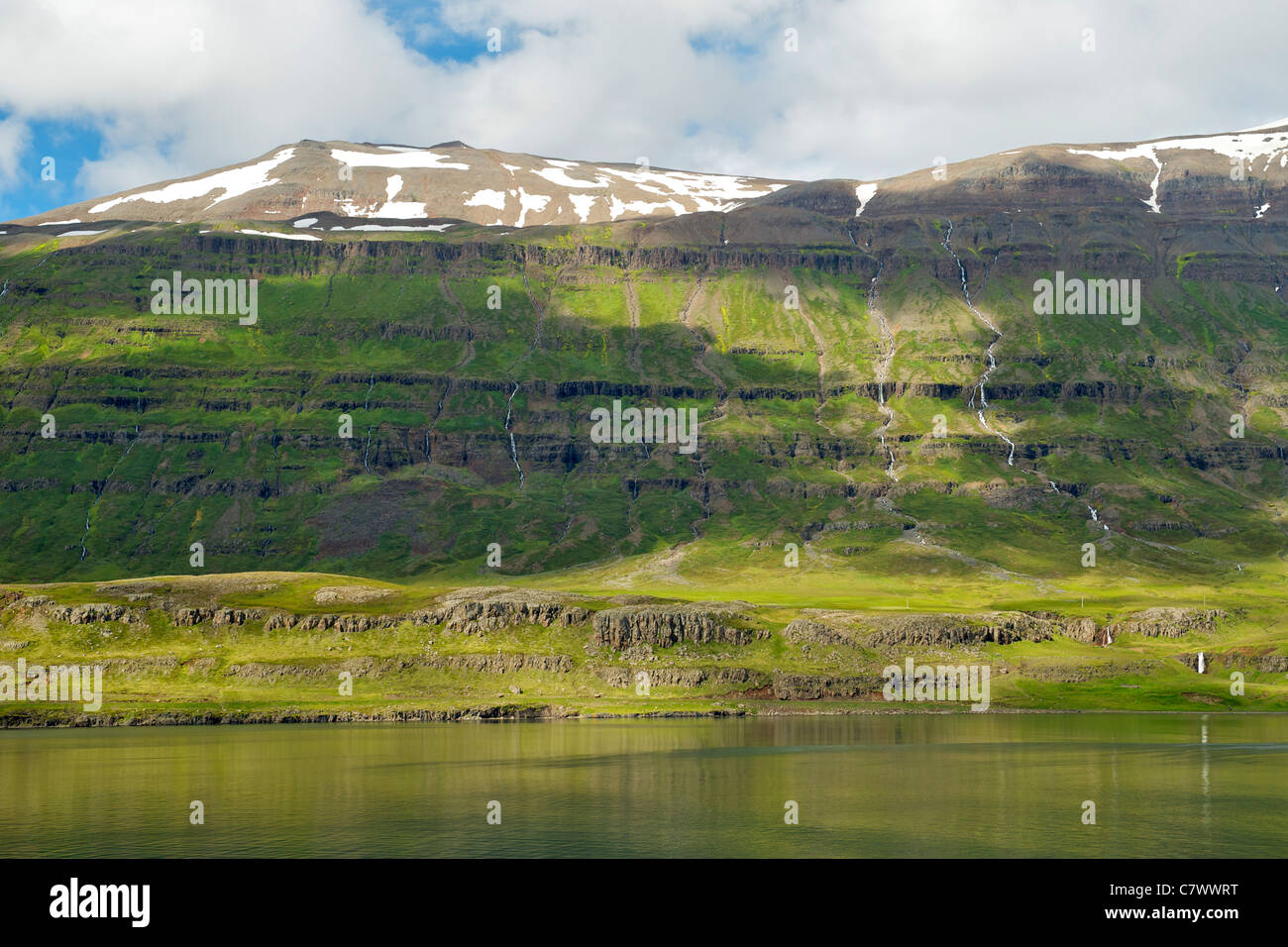 Seydisfjordur, a fjord in east Iceland. - Stock Image