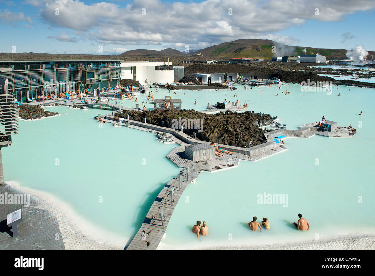 The Blue Lagoon near Reykjavik in Iceland. - Stock Image