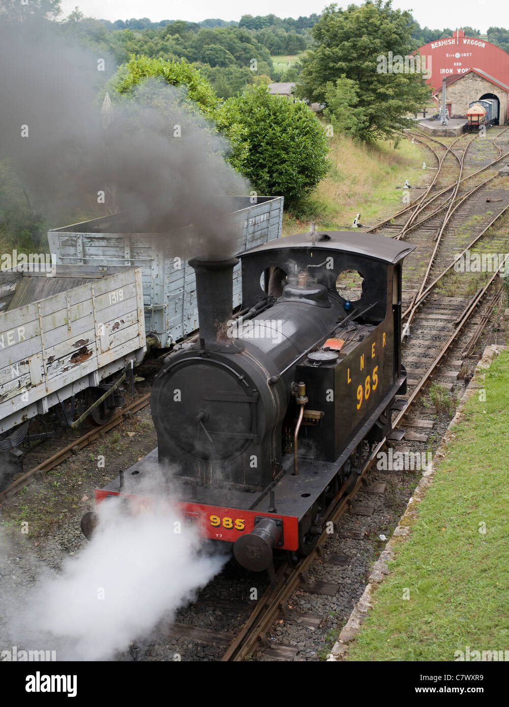 Steam Train Beamish, The North of England Open Air Museum County Durham - Stock Image