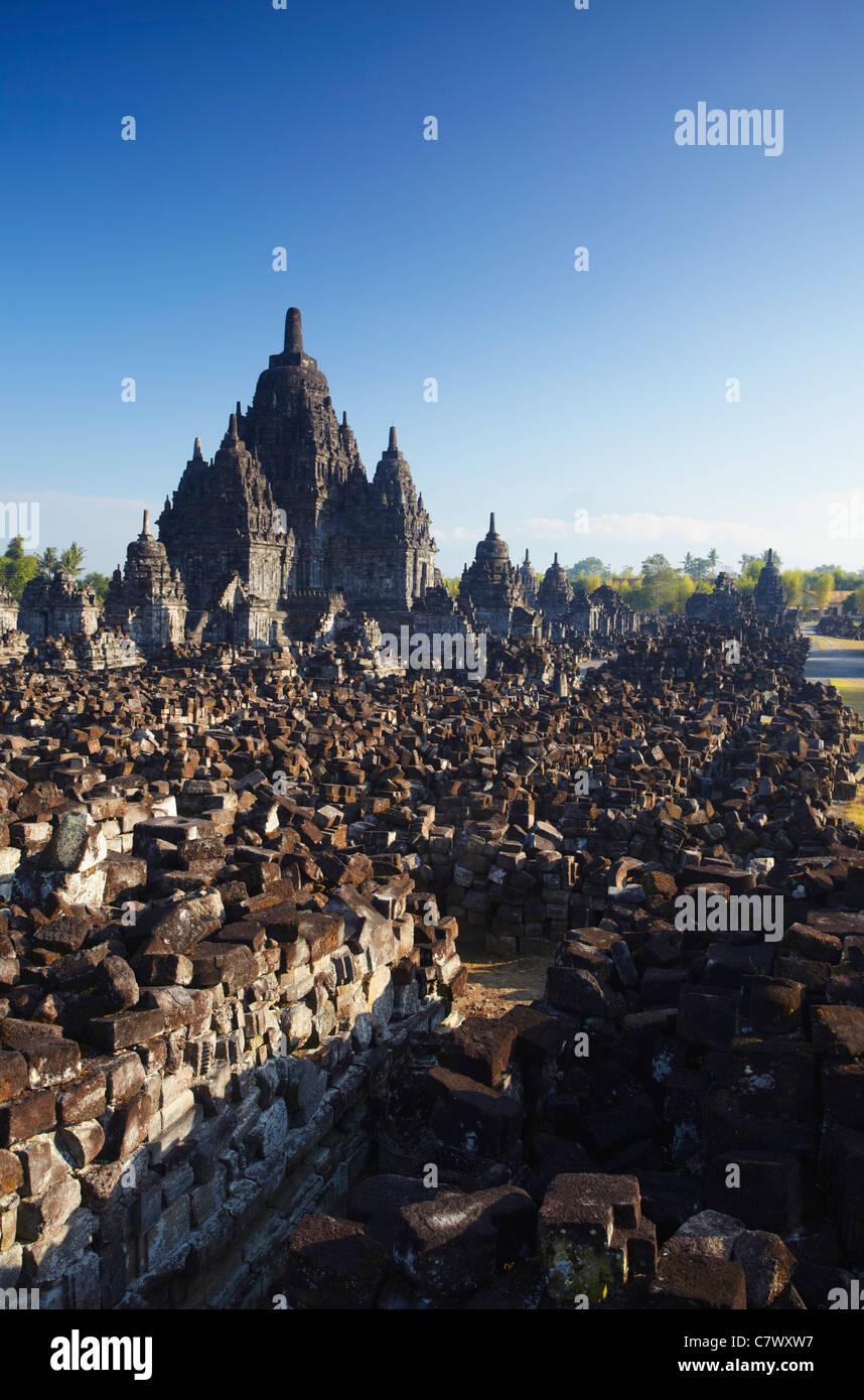 Sewu Temple, Prambanan (UNESCO World Heritage Site, Java, Indonesia - Stock Image