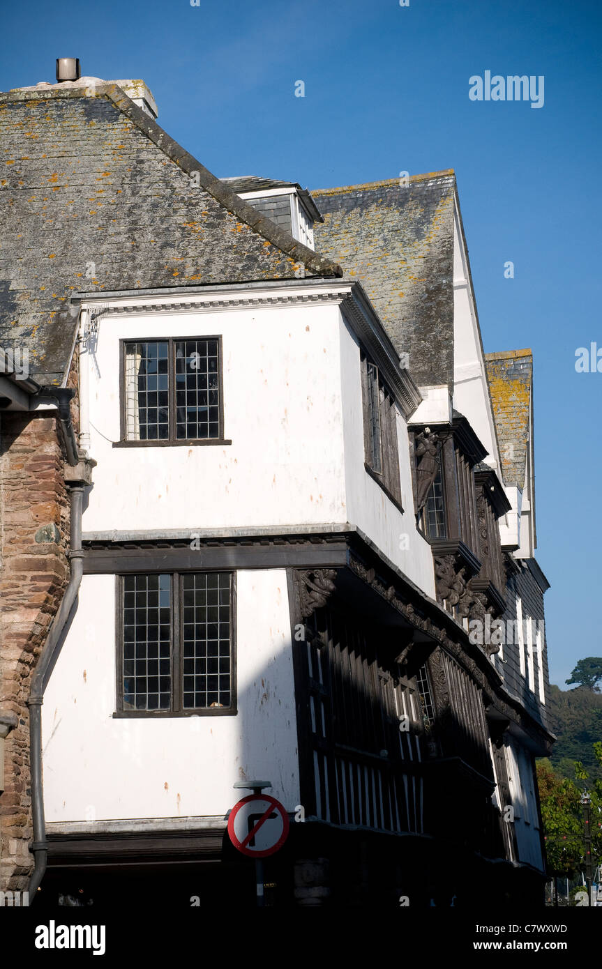 Dartmouth Museum is a museum housed in an atmospheric old merchant's house, built in 16 century,The Butterwalk - Stock Image