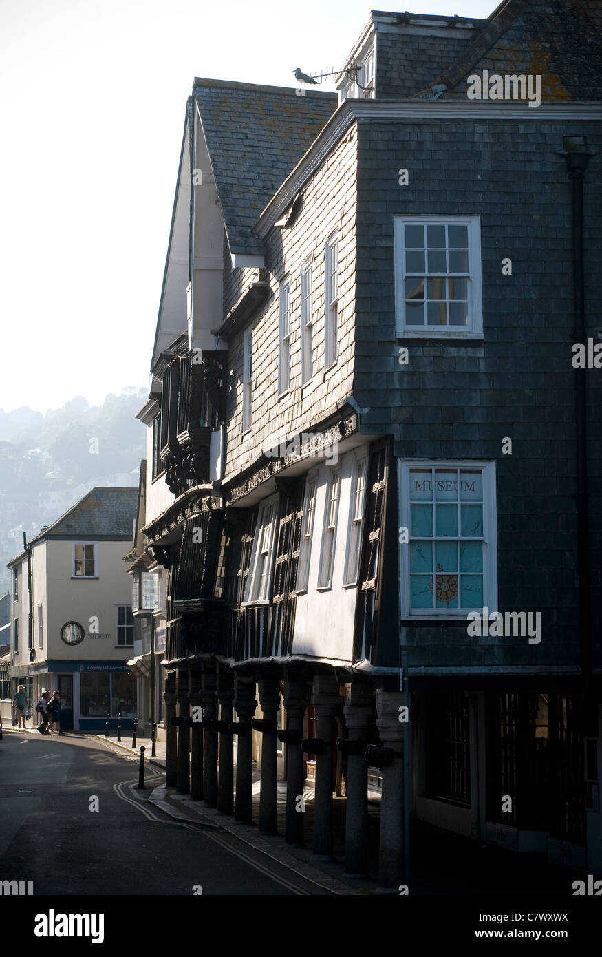 Dartmouth Museum is a museum housed in an atmospheric old merchant's house, built in 16 century, - Stock Image