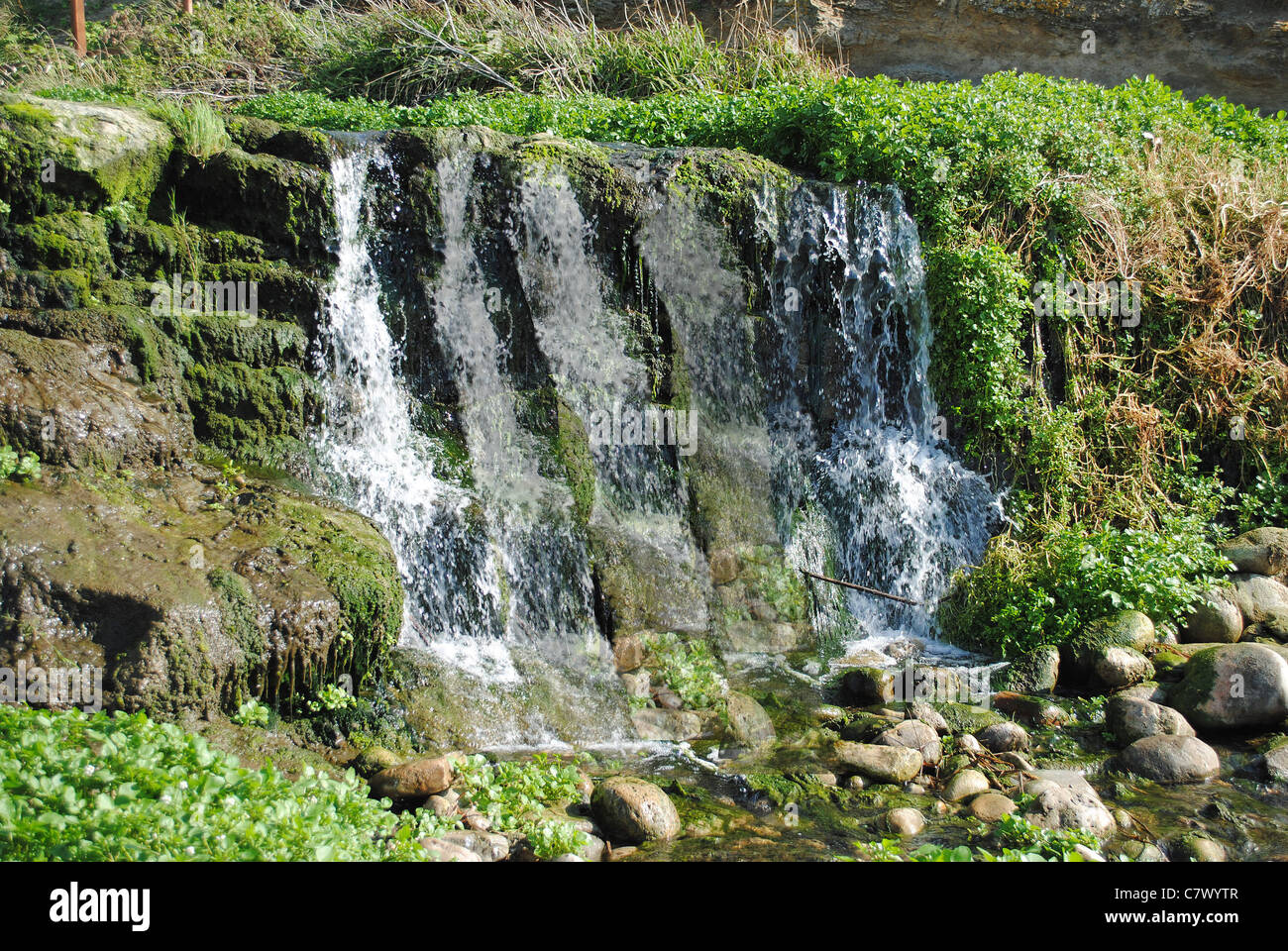 Waterfall onto the BeachStock Photo