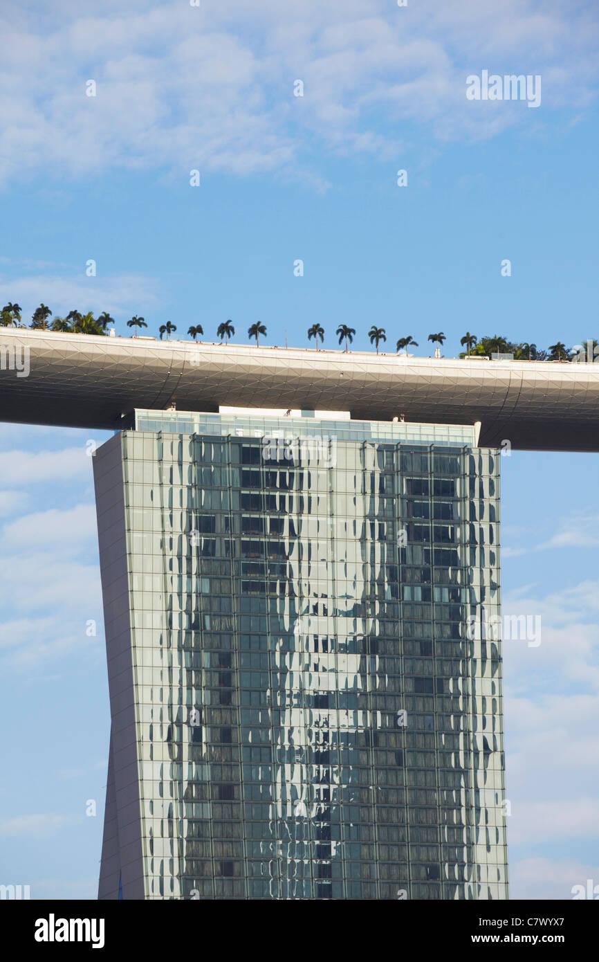 Marina Bay Sands Hotel and Skypark, Singapore - Stock Image