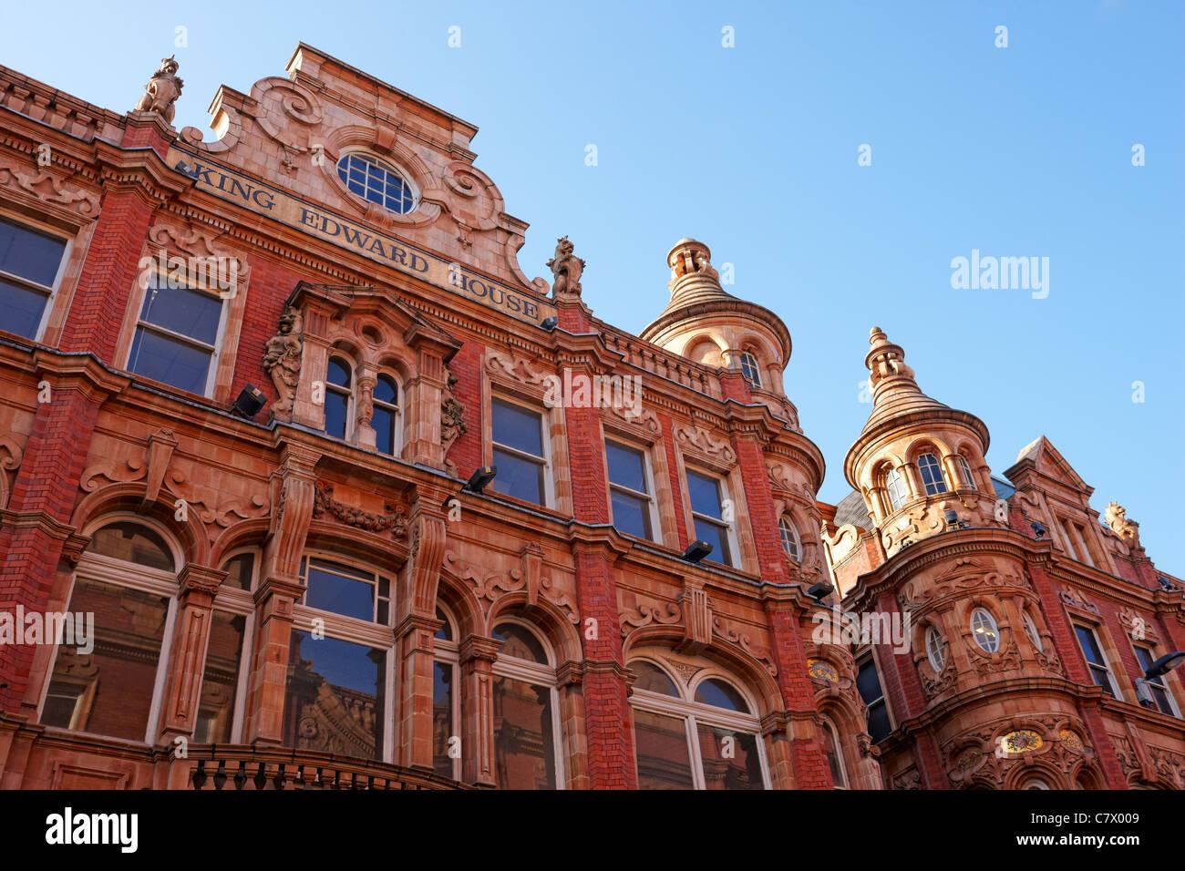 King Edward House - King Edward Street, designed by Frank Matcham. Leeds city centre UK - Stock Image
