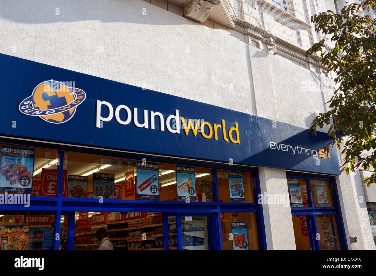 Pound World shop front UK - Stock Image