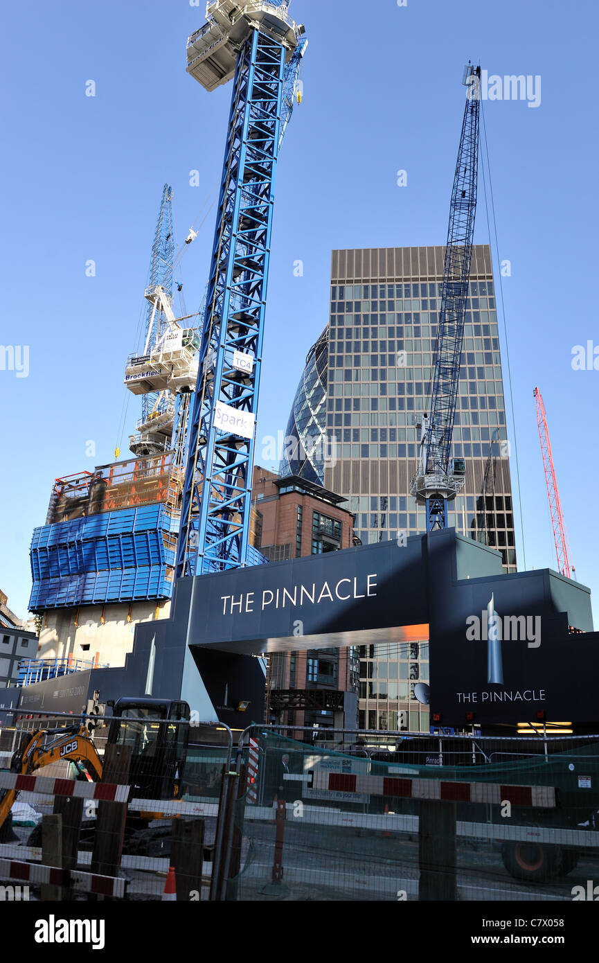 The Pinnacle building site London - Stock Image