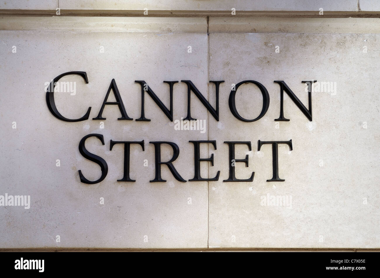 Cannon st Street sign London - Stock Image