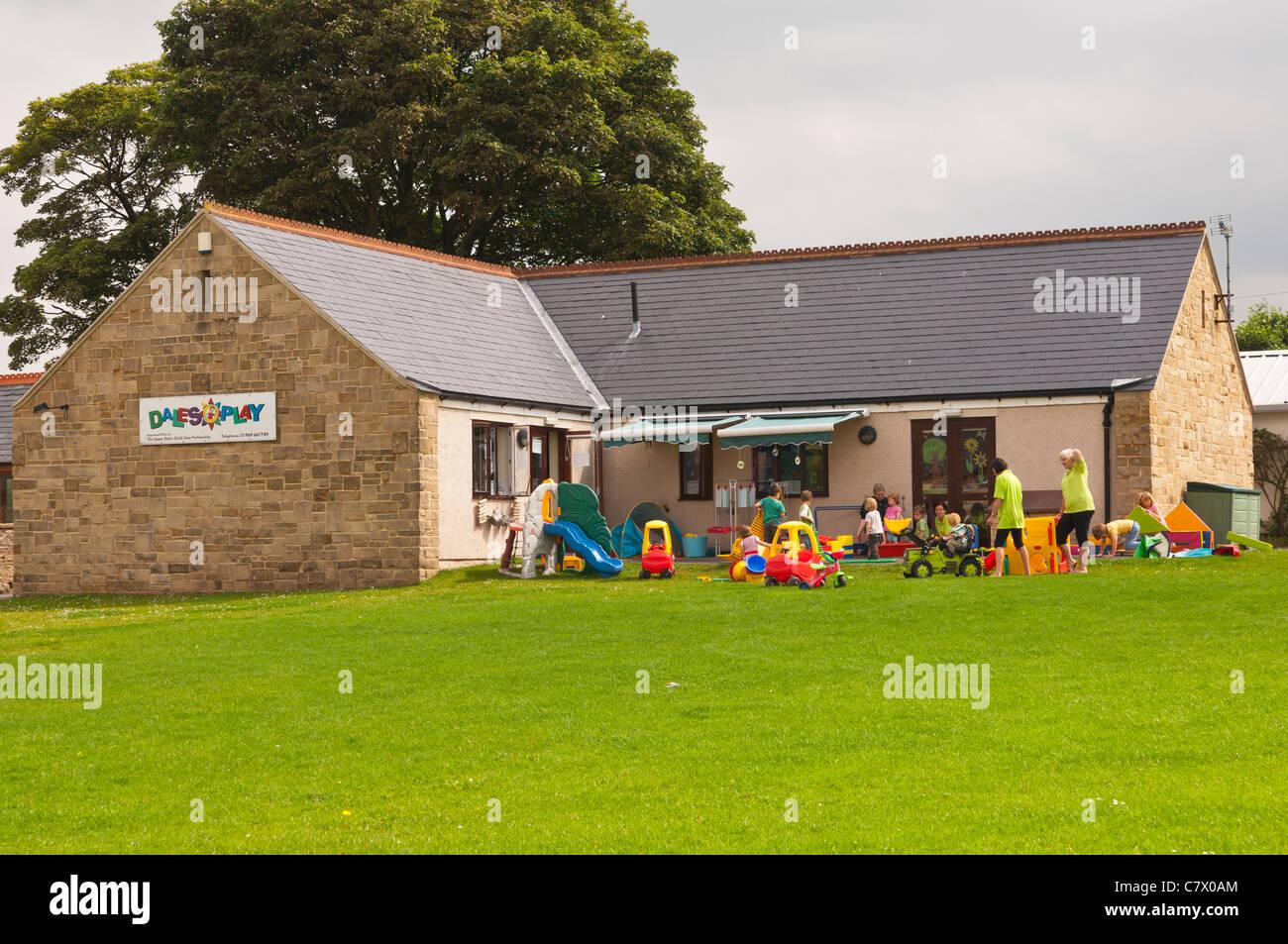 The Dales play nursery in Hawes in Wensleydale in North Yorkshire , England , Britain , Uk - Stock Image
