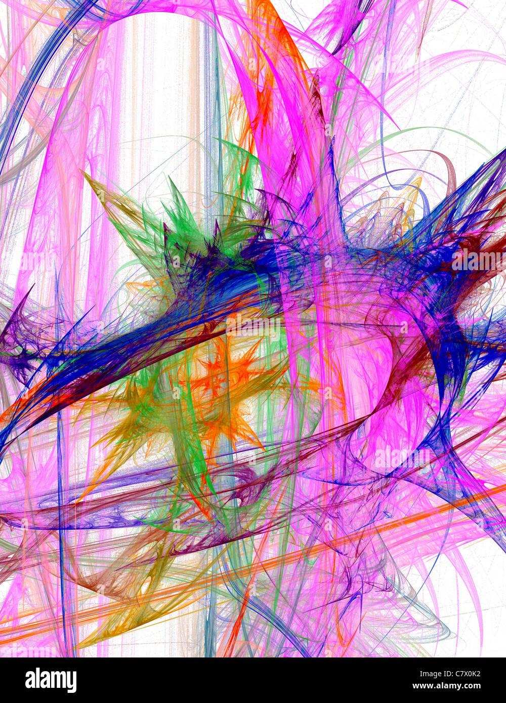 Punk abstract illustration - Stock Image