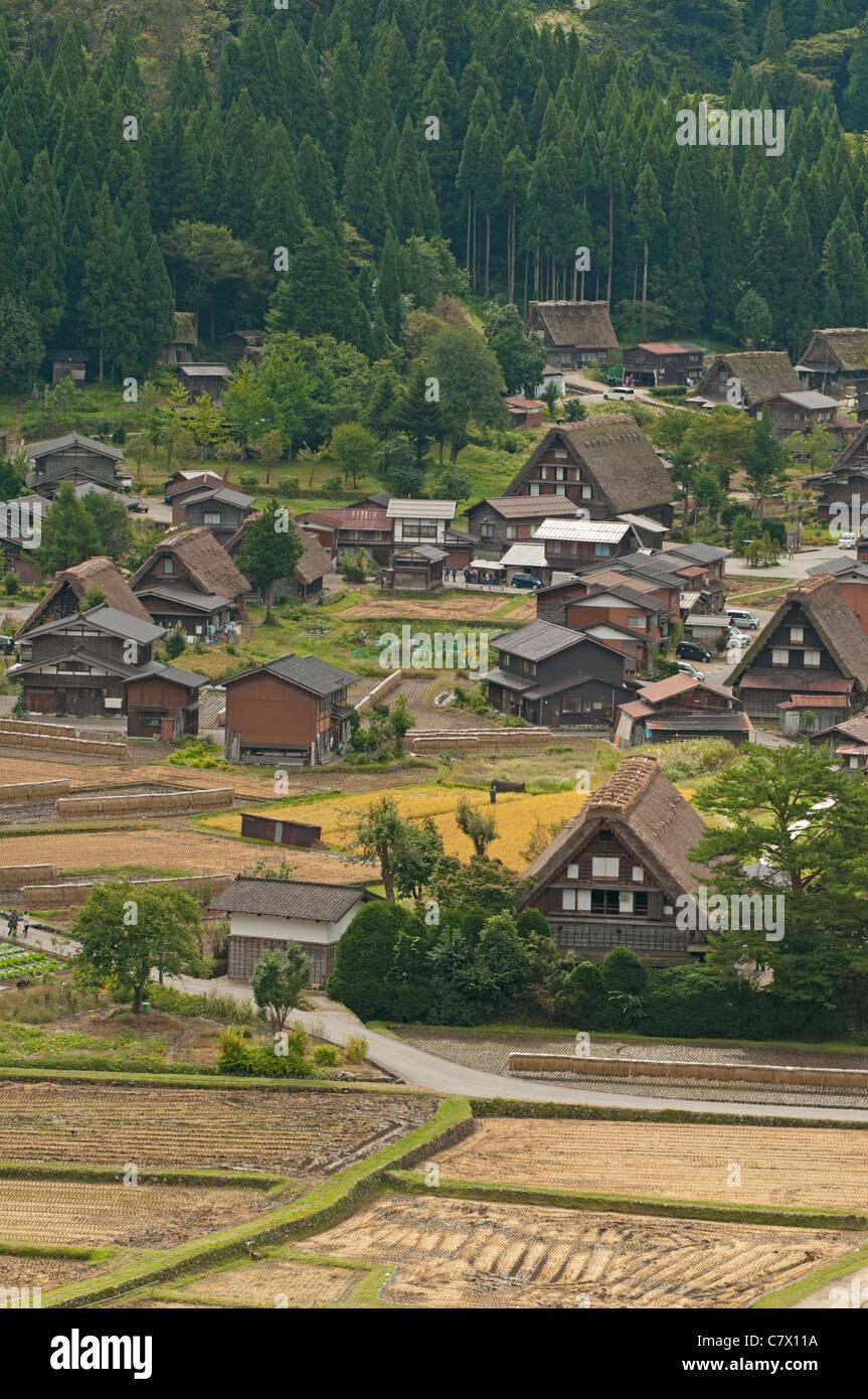Shirakawa go Unesco World Heritage Site Japan - Stock Image