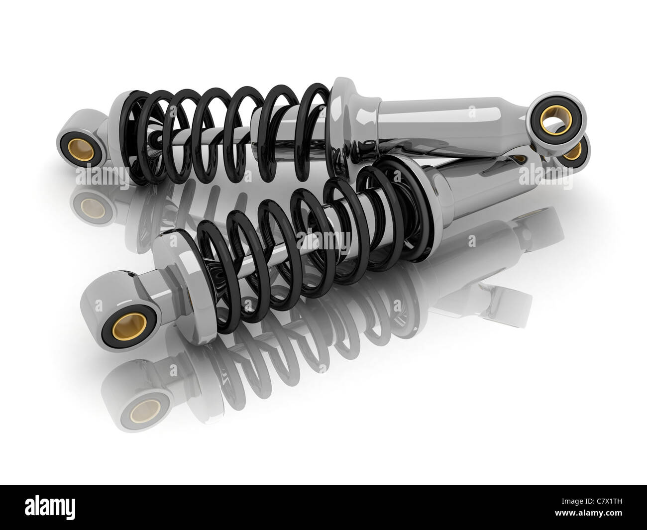 shock absorber car (done in 3d, isolated) Stock Photo
