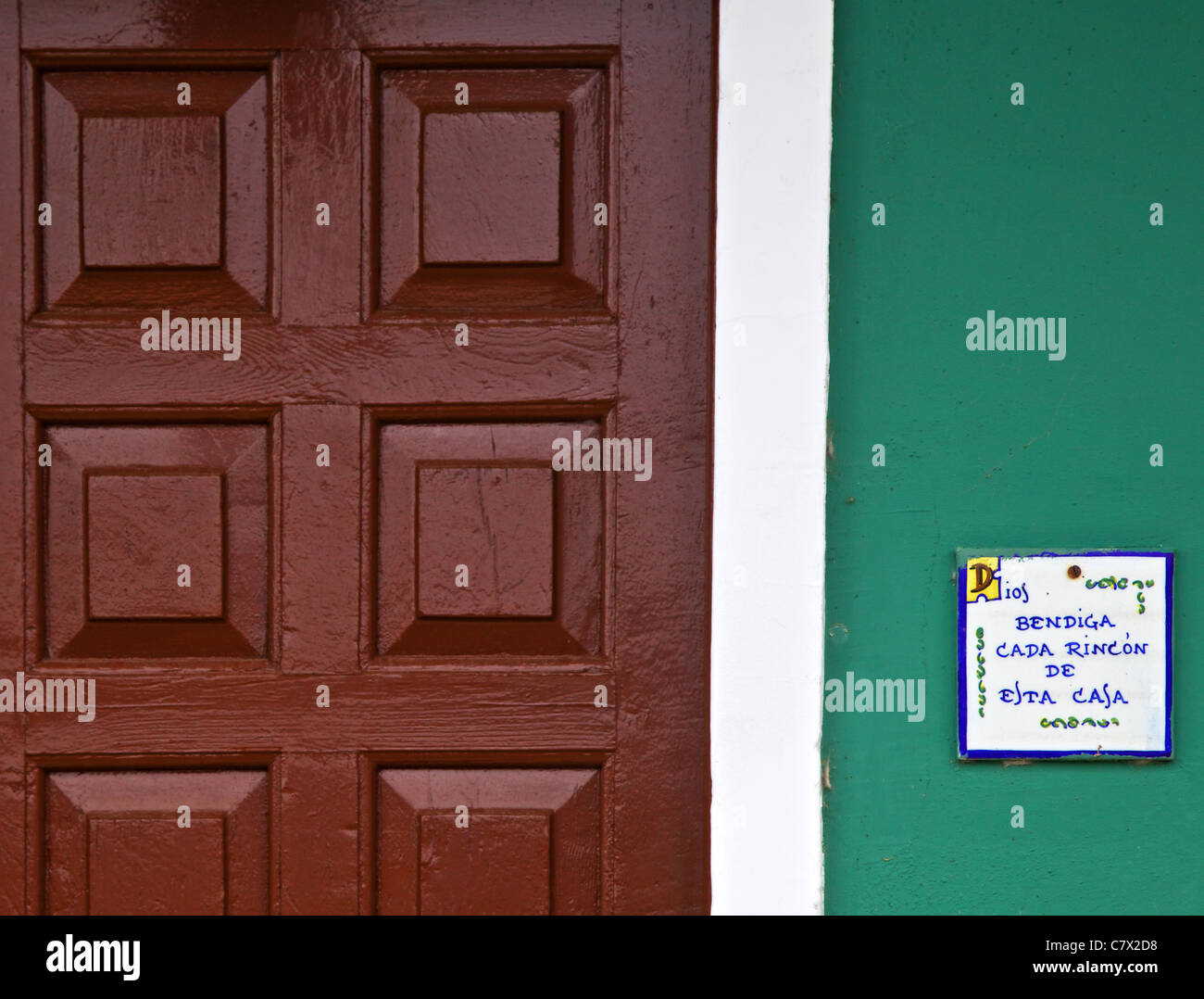 A blessing prayer at house door & A blessing prayer at house door Stock Photo: 39296020 - Alamy