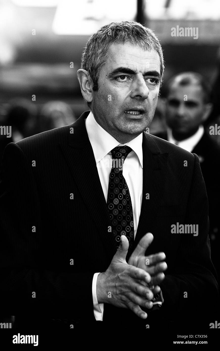 Rowan Atkinson  attends the UK Premiere of Johnny English Reborn at The Empire, Leicester Square, London on 2nd - Stock Image